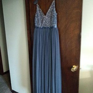 BHLDN Avery Bridesmaids Dress - Blue - Size 8
